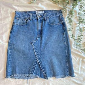 Abercrombie & Fitch Denim Skirt Mid Length